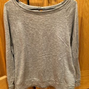 Gray Cotton Long Sleeve North Face T